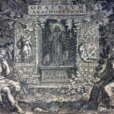 Arte: SYLVAE SACRAE ORACULUM ANACHORETICUM. JACQUES HONERVOGT. ED. IOLLAIN. PARIS. 1654-56. Lote 90347316