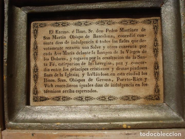 Arte: 1848 HISTORICA HORNACINA DE LA VIRGEN DE LOS CUATRO OBISPOS TALLA DE MADERA - Foto 6 - 90373340