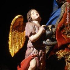 Arte: 1848 HISTORICA HORNACINA DE LA VIRGEN DE LOS CUATRO OBISPOS TALLA DE MADERA. Lote 90373340