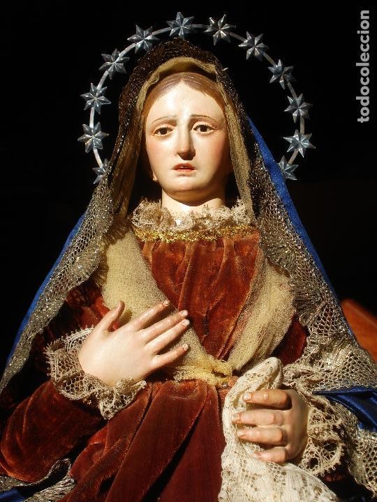 Arte: 1848 HISTORICA HORNACINA DE LA VIRGEN DE LOS CUATRO OBISPOS TALLA DE MADERA - Foto 20 - 90373340