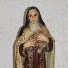 Arte: ANTIGUA FIGURA RELIGIOSA DE SANTA ROSA DE LIMA. TIPO OLOT.. Lote 120437627