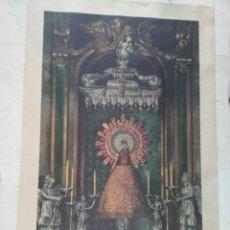 Arte: LITOGRAFÍA AUTENTIFICADA DE LA VIRGEN DEL PILAR. AÑO 1940.. Lote 90626917