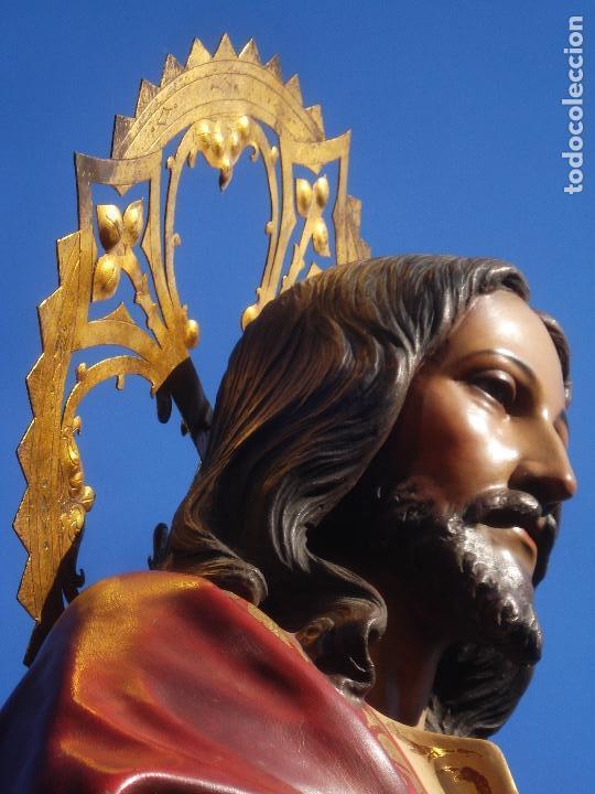 Arte: SAGRADO CORAZÓN TALLA DE MADERA DOMINGO PERIS ESCULTOR GRANDES MEDIDAS 1M78CM - Foto 21 - 90790940