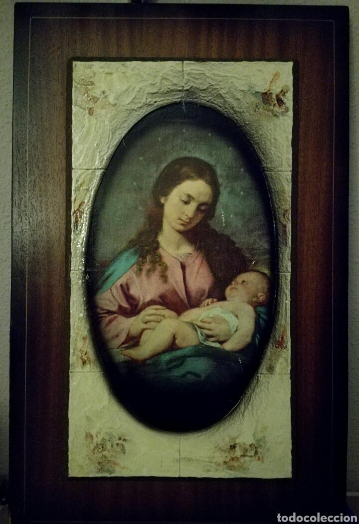 antiguo cuadro de la virgen maría y el niño jes - Comprar en ...