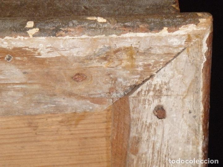 Arte: San Francisco de Paula. Escultura en madera tallada de la escuela andaluza. 84 cm. S. XVIII. - Foto 11 - 182109498