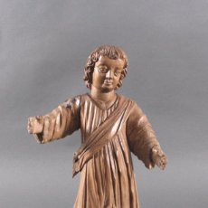 Arte: MENINO JESUS, ESCULTURA EM MADEIRA, SÉC XVIII. Lote 91197540