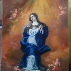 Arte: INMACULADA. LIENZO 100X73. (40P). NUEVAS FOTOS. MARCO DE REGALO.. Lote 88022680