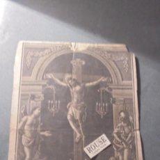 Arte: VALENCIA - ANTIGUO GRABADO PRINCIPIO S. XIX IMAGEN DEL SANTISIMO CRISTO DE LA CORONA . Lote 91370755