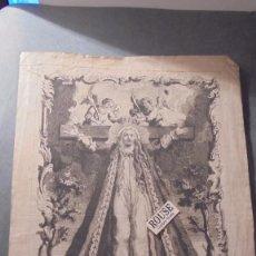 Arte: ANTIGUO GRABADO S. XVIII- SANTA LIBRADA VIRGEN Y MARTIR ESPECIALISSIMA ABOGADA DE LAS SEÑORAS MUGERE. Lote 91371720