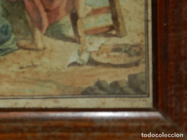 Arte: (M) ACUARELA RELIGIOSA EL DESCENDIMIENTO DE LA CRUZ , FIRMA J VALLS Y RIBA ,ACUARELA DEL S.XIX - Foto 6 - 91434945