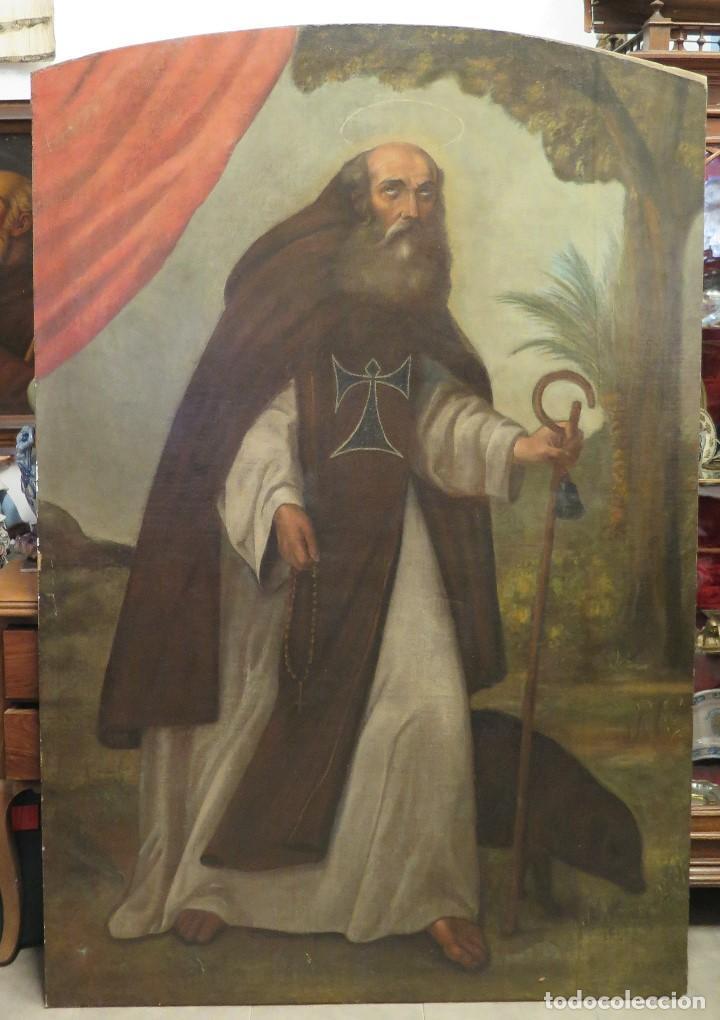 SAN ANTON. OLEO S/ LIENZO. SIGLO XVII (Arte - Arte Religioso - Pintura Religiosa - Oleo)