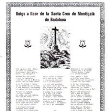 Arte: GOIGS A LLAOR DE LA SANTA CREU DE MONTIGALÀ DE BADALONA (1969). Lote 91469380