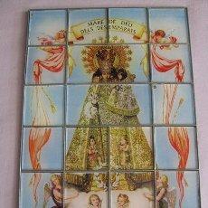 Arte: VIDRIERA VIRGEN DE LOS DESAMPARADOS (19X29) LEER DESCRIPCION. Lote 91614295