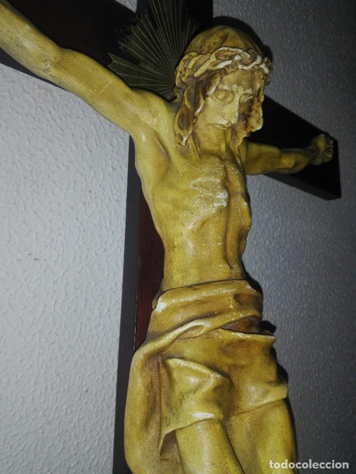 ANTIGUO JESUS CRISTO CRUCIFICADO CRISTO GRAN TAMAÑO VER FOTOS (Arte - Arte Religioso - Escultura)