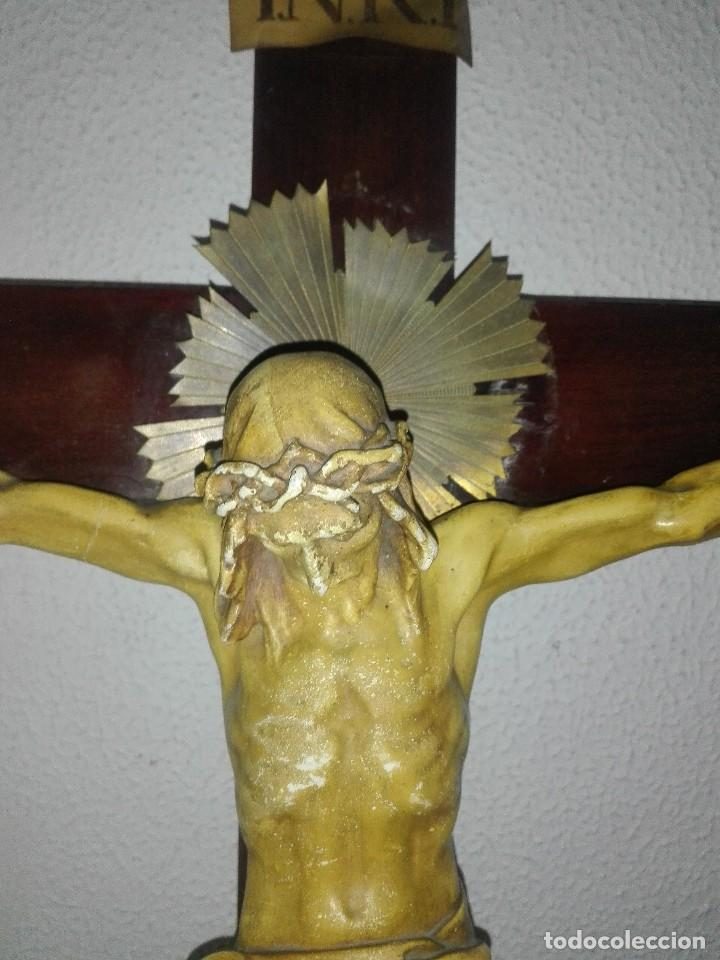 Arte: antiguo jesus cristo crucificado cristo gran tamaño ver fotos - Foto 5 - 172160257