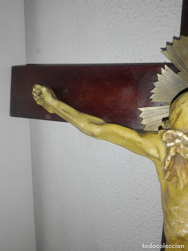 Arte: antiguo jesus cristo crucificado cristo gran tamaño ver fotos - Foto 6 - 172160257