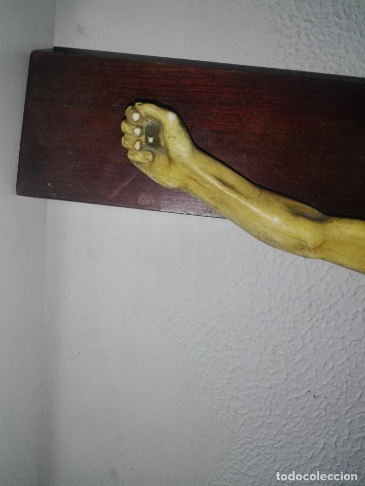 Arte: antiguo jesus cristo crucificado cristo gran tamaño ver fotos - Foto 7 - 172160257
