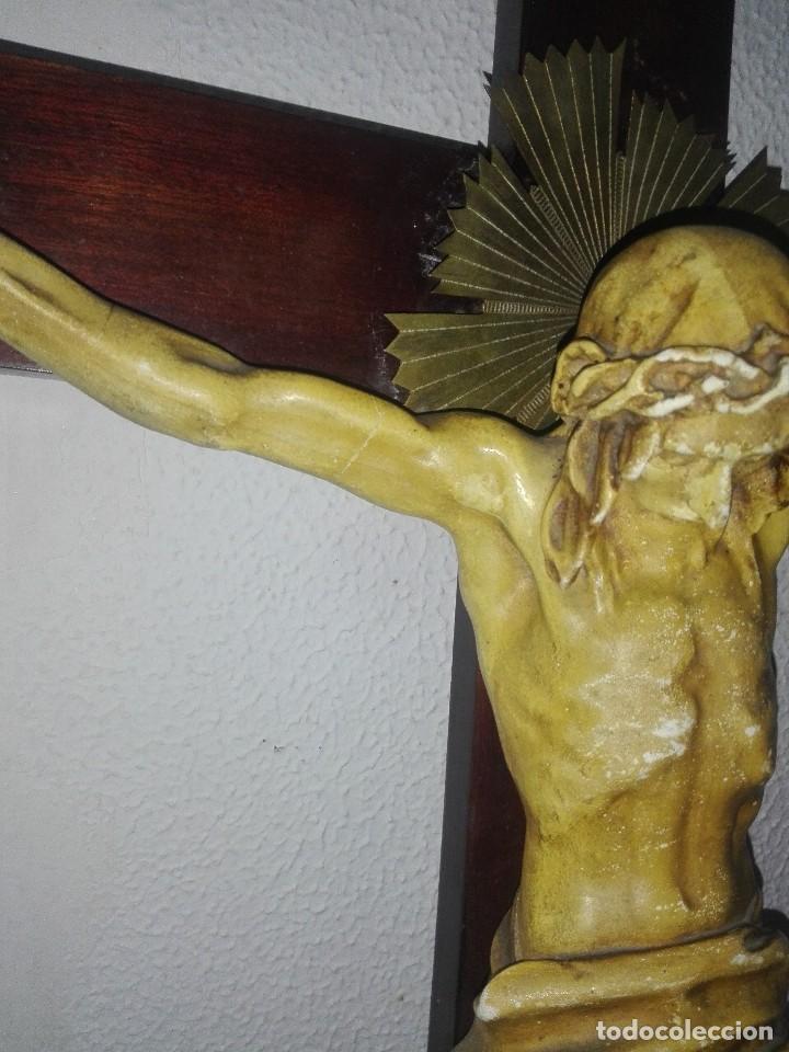 Arte: antiguo jesus cristo crucificado cristo gran tamaño ver fotos - Foto 8 - 172160257