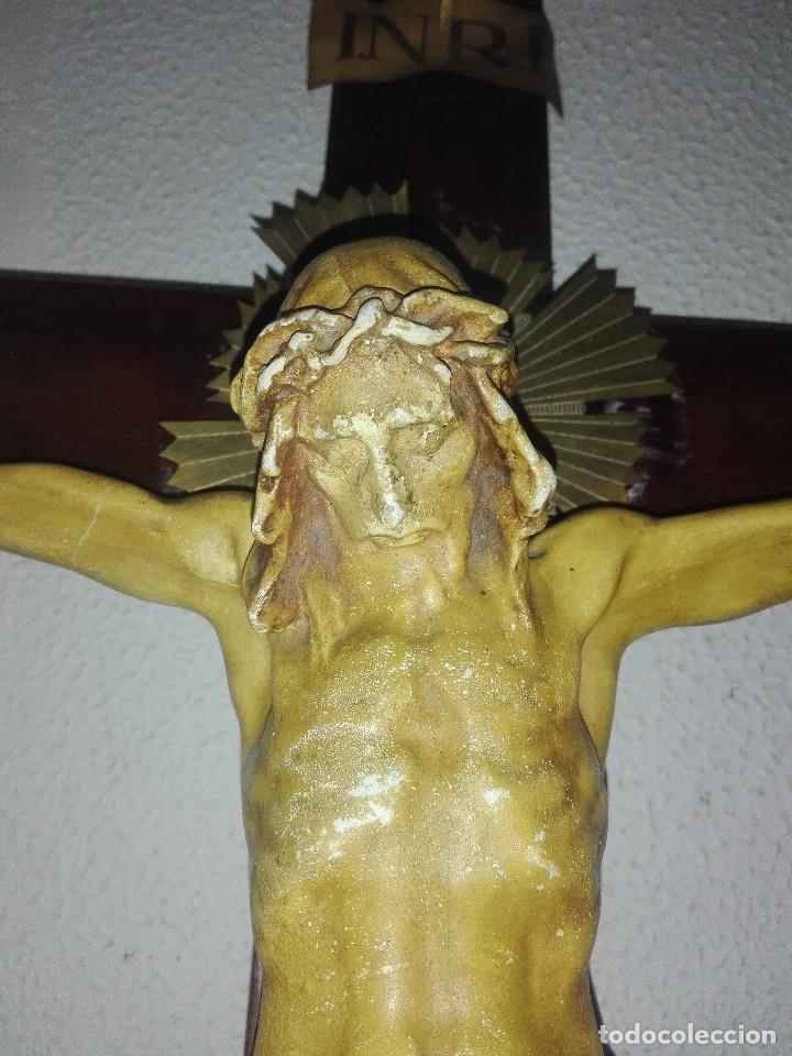 Arte: antiguo jesus cristo crucificado cristo gran tamaño ver fotos - Foto 9 - 172160257
