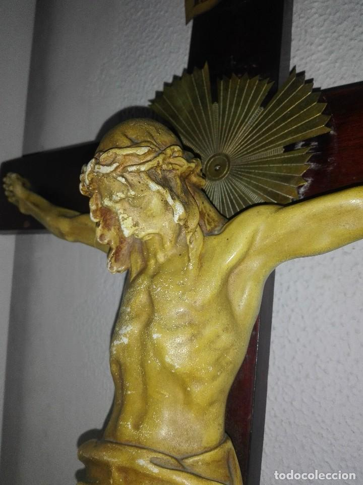 Arte: antiguo jesus cristo crucificado cristo gran tamaño ver fotos - Foto 11 - 172160257