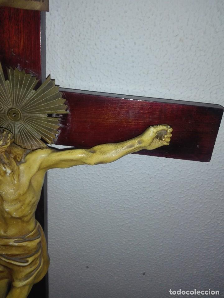 Arte: antiguo jesus cristo crucificado cristo gran tamaño ver fotos - Foto 12 - 172160257