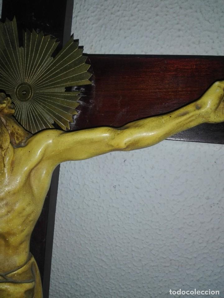 Arte: antiguo jesus cristo crucificado cristo gran tamaño ver fotos - Foto 13 - 172160257