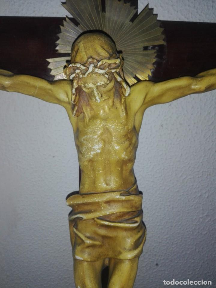Arte: antiguo jesus cristo crucificado cristo gran tamaño ver fotos - Foto 16 - 172160257