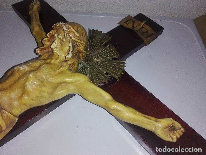 Arte: antiguo jesus cristo crucificado cristo gran tamaño ver fotos - Foto 30 - 172160257