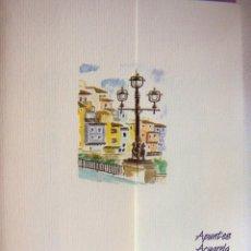 Arte: CARPETA CON 4 LITOGRAFIAS REPRODUCCIONES EN ACUARELA DE VILLA JOYOSA FIRMADAS POR RAMÓN TOMÁS. Lote 91728670