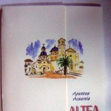 Arte: CARPETA CON 4 LITOGRAFIAS REPRODUCCIONES EN ACUARELA DE ALTEA FIRMADAS POR RAMÓN TOMÁS. Lote 91729210