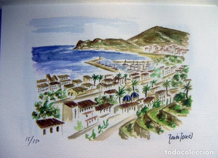 Arte: Carpeta con 4 litografias reproducciones en acuarela de Altea firmadas por Ramón Tomás - Foto 2 - 91729210