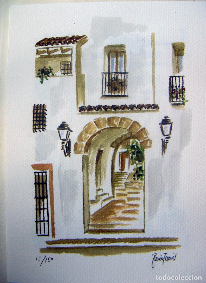 Arte: Carpeta con 4 litografias reproducciones en acuarela de Altea firmadas por Ramón Tomás - Foto 3 - 91729210