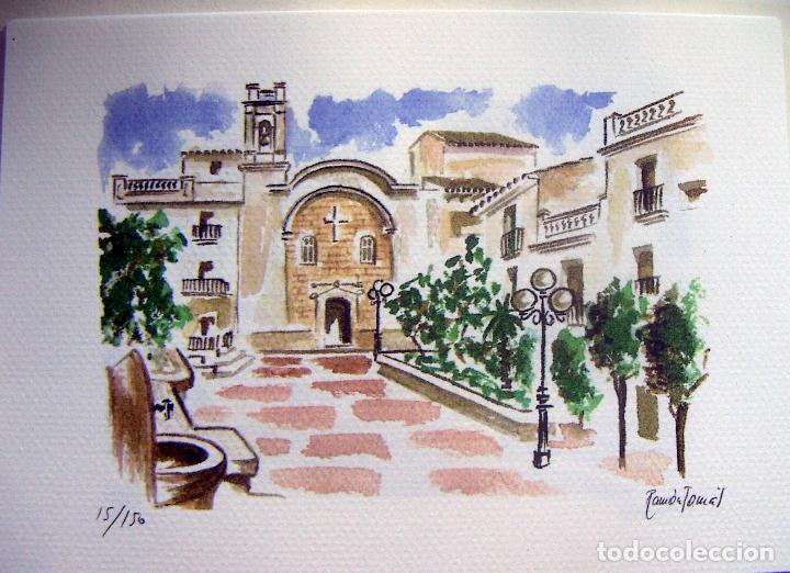 Arte: Carpeta con 4 litografias reproducciones en acuarela de Altea firmadas por Ramón Tomás - Foto 4 - 91729210
