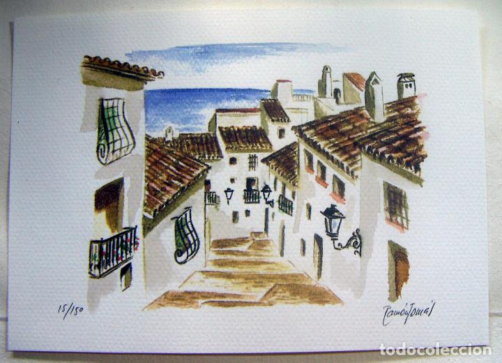 Arte: Carpeta con 4 litografias reproducciones en acuarela de Altea firmadas por Ramón Tomás - Foto 7 - 91729210