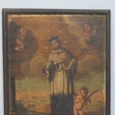 Arte: SAN JUAN NEPOMUCENO. OLEO S/ LIENZO. SIGLO XVII-XVIII. Lote 91786325