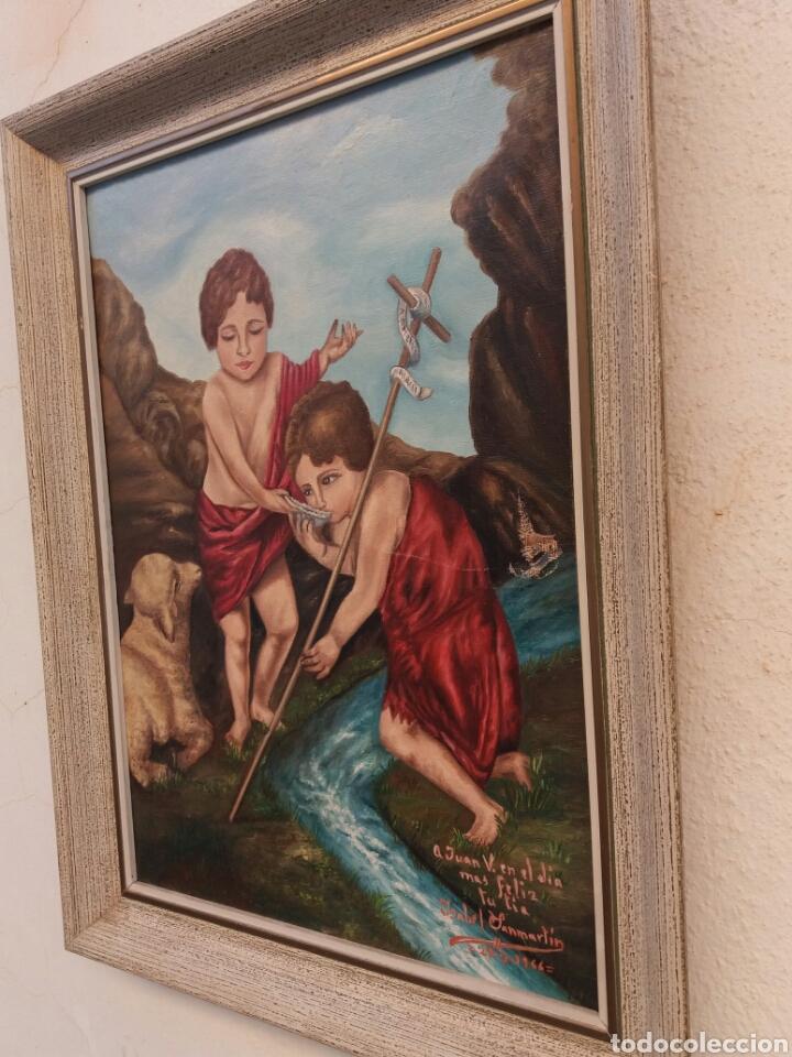 BONITA PINTURA RELIGIOSA AL OLEO SOBRE TELA FIRMADA AÑO 1966 (Arte - Arte Religioso - Pintura Religiosa - Oleo)