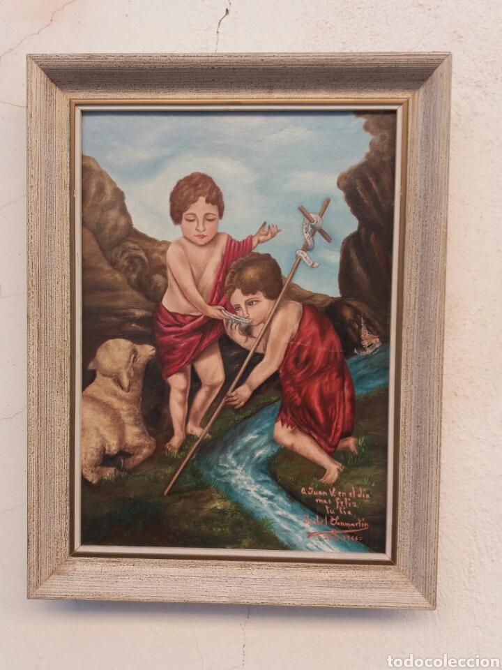 Arte: Bonita pintura religiosa al oleo sobre tela firmada año 1966 - Foto 2 - 91862590