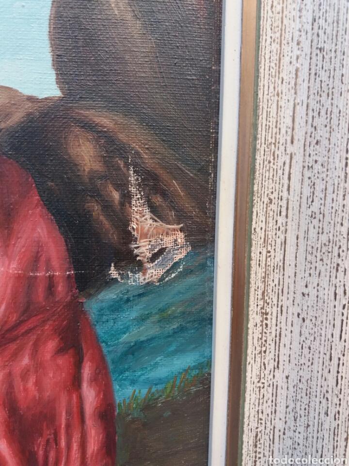 Arte: Bonita pintura religiosa al oleo sobre tela firmada año 1966 - Foto 4 - 91862590
