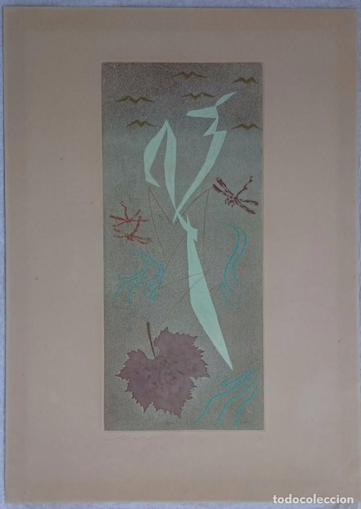 ANDRÉ MASSON GRABADO ORIGINAL, LA MANTIS RELIGIOSA, 1955 63X45 CM. FIRMADO/NUMERADO 50 EJEMPLARES (Arte - Arte Religioso - Grabados)