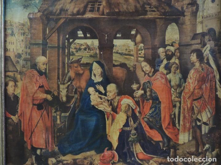 Arte: TRIPTICO RELIGIOSO LAMINA SOBRE MADERA - Foto 3 - 92479380
