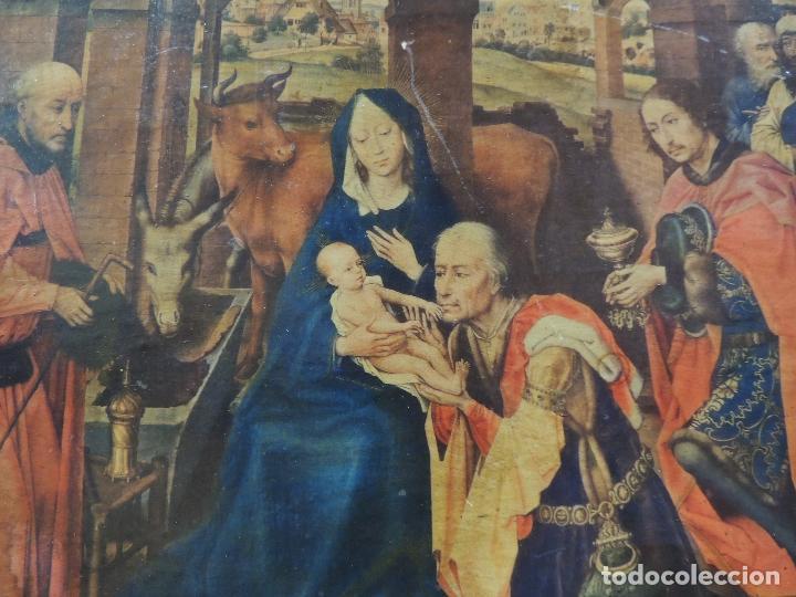 Arte: TRIPTICO RELIGIOSO LAMINA SOBRE MADERA - Foto 4 - 92479380