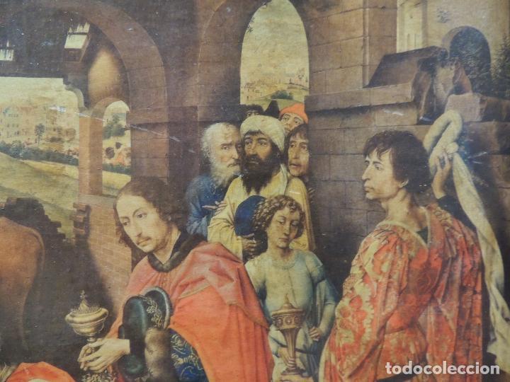 Arte: TRIPTICO RELIGIOSO LAMINA SOBRE MADERA - Foto 5 - 92479380