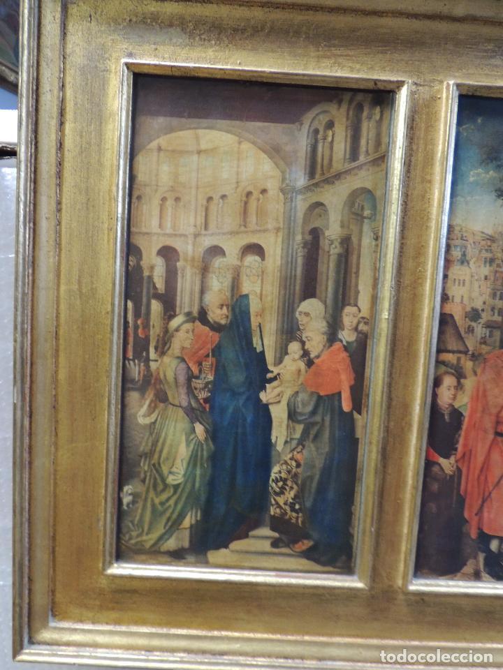 Arte: TRIPTICO RELIGIOSO LAMINA SOBRE MADERA - Foto 6 - 92479380