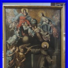 Arte: CUADRO RELIGIOSO OLEO SOBRE LIENZO S. XVII. Lote 92481695