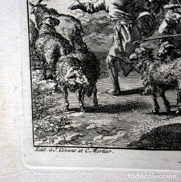 Arte: 1729 -GRABADO BIBLIA - ABRAHAM y LOT se separan - Luyken - GRABADO - 58x52cm - Covens et Mortier - Foto 2 - 67320753