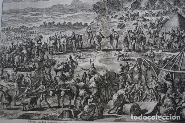 Arte: 1729 -GRABADO BIBLIA - ABRAHAM y LOT se separan - Luyken - GRABADO - 58x52cm - Covens et Mortier - Foto 3 - 67320753