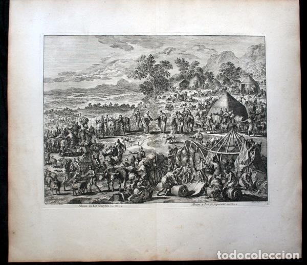 Arte: 1729 -GRABADO BIBLIA - ABRAHAM y LOT se separan - Luyken - GRABADO - 58x52cm - Covens et Mortier - Foto 4 - 67320753