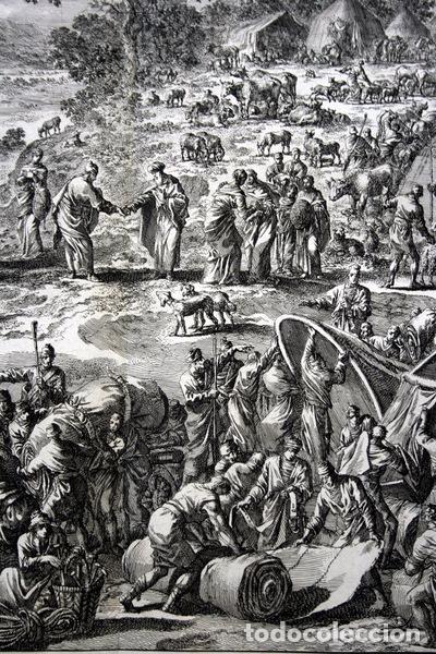 Arte: 1729 -GRABADO BIBLIA - ABRAHAM y LOT se separan - Luyken - GRABADO - 58x52cm - Covens et Mortier - Foto 5 - 67320753