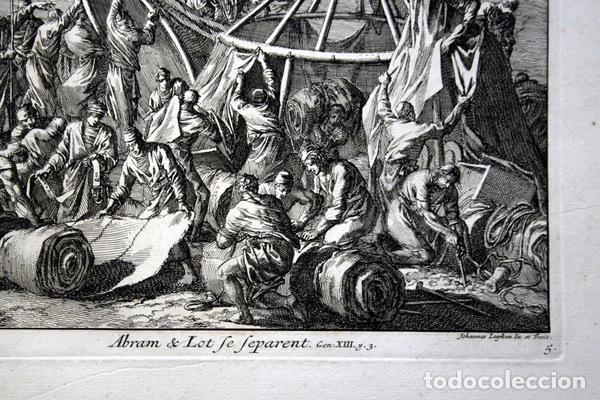 Arte: 1729 -GRABADO BIBLIA - ABRAHAM y LOT se separan - Luyken - GRABADO - 58x52cm - Covens et Mortier - Foto 7 - 67320753