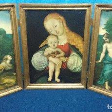 Arte: TRIPTICO RELIGIOSO CRISTIANO. Lote 93011080